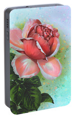 Portable Battery Charger featuring the digital art  Valentine's Day by Andrzej Szczerski