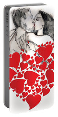 Valentine's Kiss - Valentine's Day Portable Battery Charger