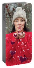 Portable Battery Charger featuring the photograph Valentines Kisses... by Nina Stavlund