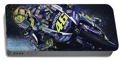 Valentino Rossi Portable Battery Charger by Taylan Apukovska