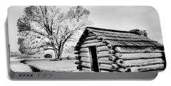 Portable Battery Charger featuring the photograph Valley Forge Winter Troops Hut                           by Paul W Faust - Impressions of Light