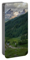Valley In The French Alps Portable Battery Charger