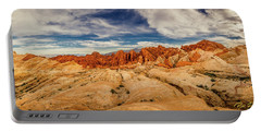 Portable Battery Charger featuring the photograph Valley Of Fire Panorama by Rikk Flohr