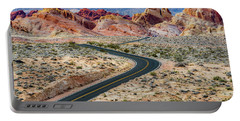 Road Through The Valley Of Fire Portable Battery Charger