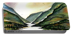 Portable Battery Charger featuring the painting Valley Of Water by Terry Banderas