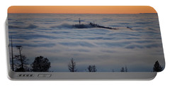 Valley Sunset Fog Portable Battery Charger