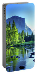 Valley View Morning Portable Battery Charger by Rick Berk