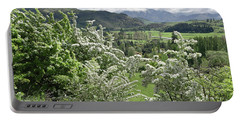 Valleys And Meadows Of New Zealand. Springtime. Queenstown Area. Portable Battery Charger