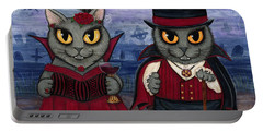 Vampire Cat Couple Portable Battery Charger