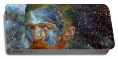 Van Gogh Art Study In Blue Portable Battery Charger