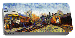 Van Gogh.s Train Station 7d11513 Portable Battery Charger