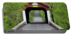 Van Sandt Covered Bridge - Bucks County Pa Portable Battery Charger by Bill Cannon