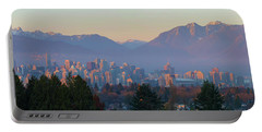 Vancouver Bc Downtown Cityscape At Sunset Panorama Portable Battery Charger