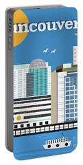Vancouver British Columbia Canada Vertical Skyline Portable Battery Charger