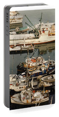 Portable Battery Charger featuring the photograph Vancouver Harbor Fishin Fleet by Jack Pumphrey