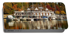 Vancouver Rowing Club In Autumn Portable Battery Charger