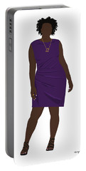 Portable Battery Charger featuring the digital art Vanessa by Nancy Levan