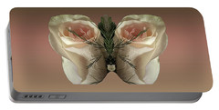 Vanilla Butterfly Rose Portable Battery Charger