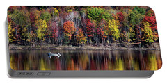 Vanishing Autumn Reflection Landscape Portable Battery Charger