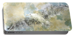 Vanishing Seagull Portable Battery Charger by Melanie Viola