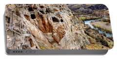 Portable Battery Charger featuring the photograph Vardzia by Fabrizio Troiani