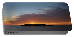 Portable Battery Charger featuring the photograph Variations Of Sunsets At Gulf Of Bothnia 1 by Jouko Lehto