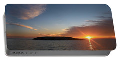Portable Battery Charger featuring the photograph Variations Of Sunsets At Gulf Of Bothnia 3 by Jouko Lehto