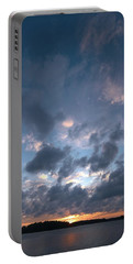 Portable Battery Charger featuring the photograph Variations Of Sunsets At Gulf Of Bothnia 5 by Jouko Lehto