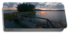Portable Battery Charger featuring the photograph Variations Of Sunsets At Gulf Of Bothnia 6 by Jouko Lehto