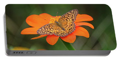Variegated Fritillary On Flower Portable Battery Charger