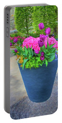 Vase And Flowers Series 05 Portable Battery Charger