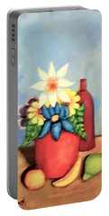 Vase Of Flowers Portable Battery Charger