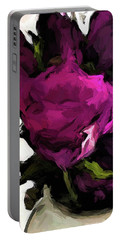 Vase Of Roses With Shadows 2 Portable Battery Charger