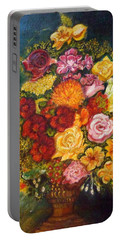 Vase With Flowers Portable Battery Charger