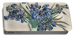 Portable Battery Charger featuring the painting Vase With Irises by Van Gogh