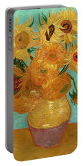 Portable Battery Charger featuring the painting Vase With Twelve Sunflowers by Van Gogh