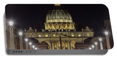 Vatican At Night With Lights  Portable Battery Charger