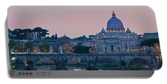 Vatican City At Sunset Portable Battery Charger