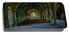 Vaulted, Fountains Abbey, Yorkshire, United Kingdom Portable Battery Charger