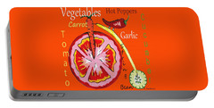 Vegetables - Typography Portable Battery Charger