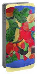 Portable Battery Charger featuring the painting Veggies Two by Sandy McIntire