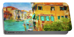 Portable Battery Charger featuring the photograph Venezia Afternoon by Connie Handscomb