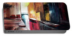 Portable Battery Charger featuring the painting Venice 1 by Anil Nene