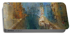 Venice Blue And Yellow Portable Battery Charger