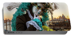 Portable Battery Charger featuring the photograph Venice Carnival II '17 by Yuri Santin
