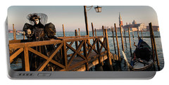 Portable Battery Charger featuring the photograph Venice Carnival IIi '17 by Yuri Santin