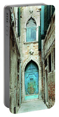 Venice Italy Turquoise Blue Door  Portable Battery Charger