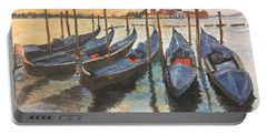 Portable Battery Charger featuring the painting Venice by Lucia Grilletto