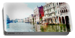 Portable Battery Charger featuring the digital art Venice by Maciek Froncisz