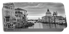 Portable Battery Charger featuring the photograph Venice Morning by Richard Goodrich